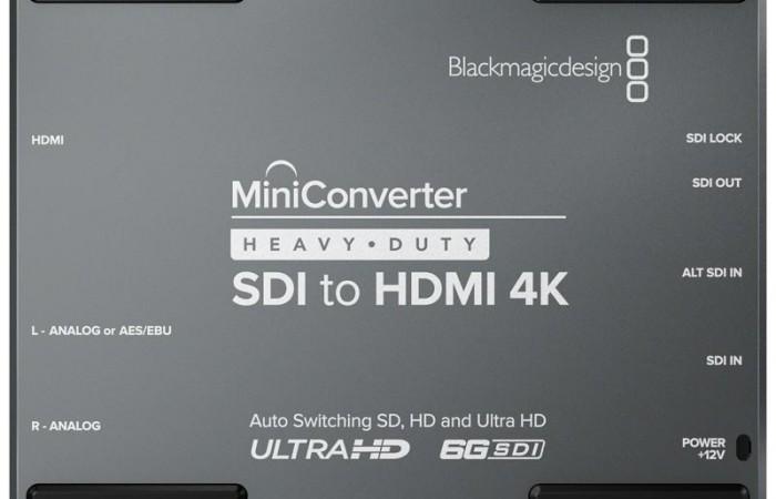 MINI CONVERTER HEAVY DUTY SDI A HDMI 4K BLACKMAGIC DESIGN