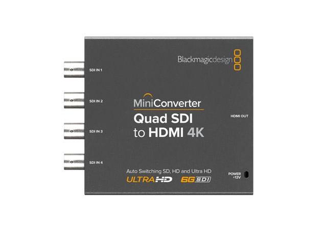 MINI CONVERTER QUAD SDI TO HDMI 4K BLACKMAGIC DESIGN