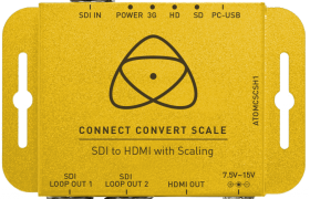 CONNECT CONVERT SCALE SDI A HDMI ATOMOS