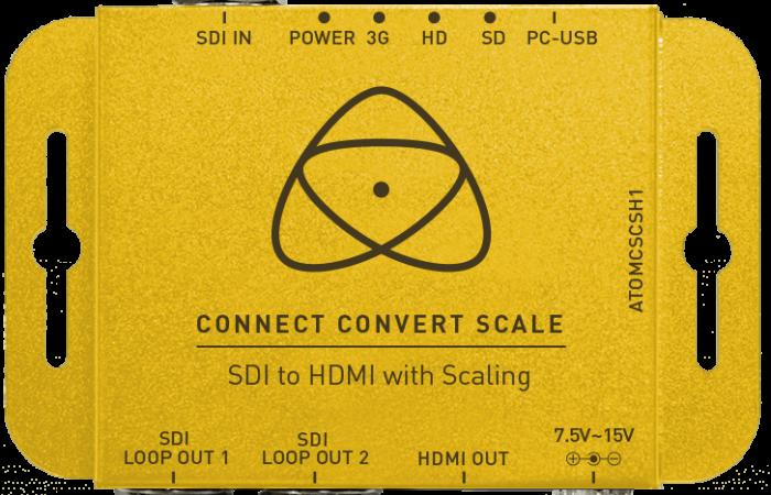 CONNECT CONVERT SCALE SDI A HDMI ATOMOS