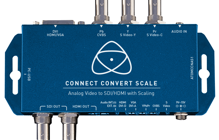 CONNECT CONVERT SCALE ANALÓGICO A SDI/HDMI ATOMOS
