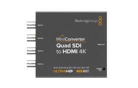 MINI CONVERTER QUAD SDI TO HDMI 4K BLACKMAGIC DESIGN