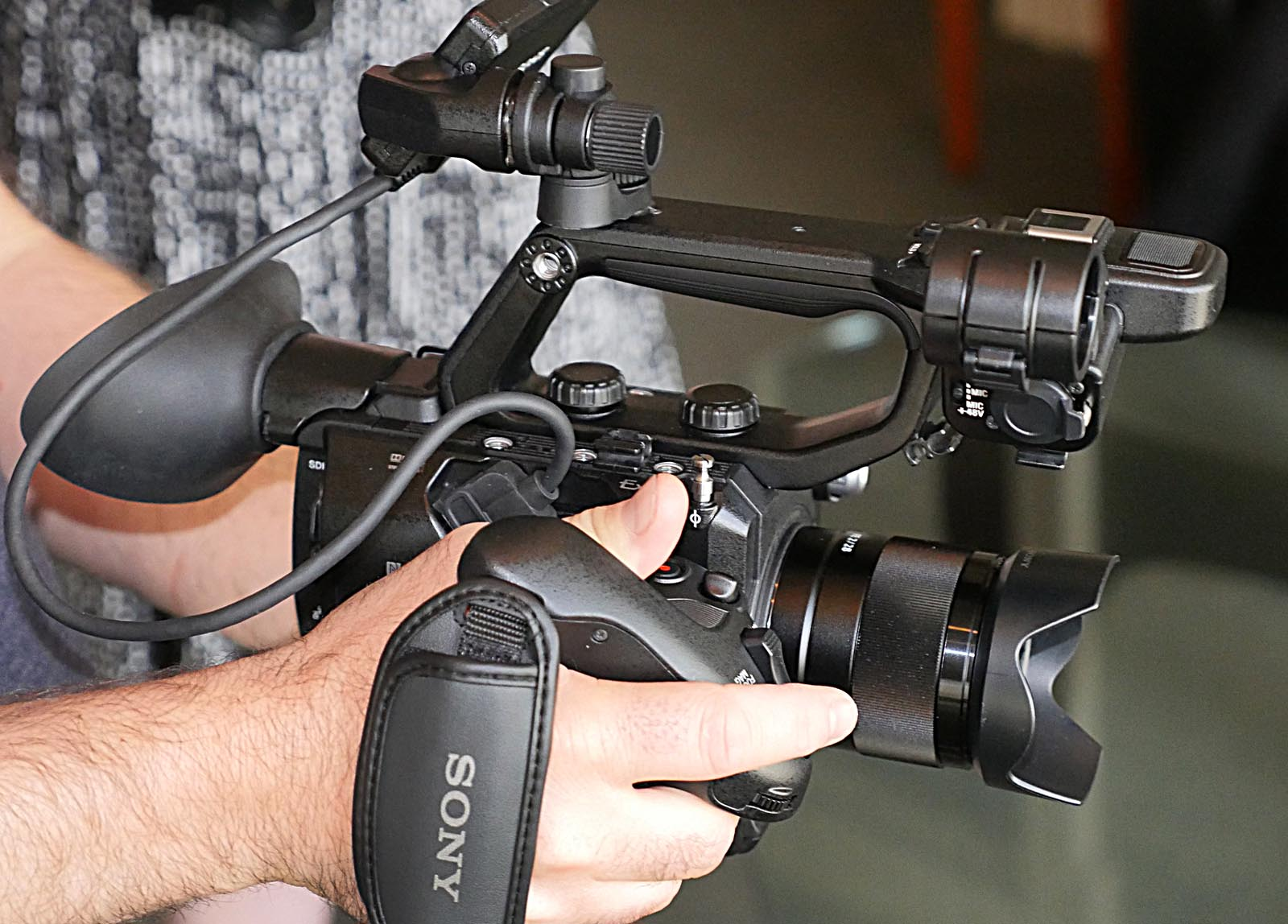 Sony introduces the PXW FS5 camera during a briefing at Sony Americas headquarters in Manhattan Wednesday, September 9, 2015. photo:  © 2015 Chuck Fadely