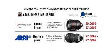 CUADRO CON LAS LENTES CINEMATOGRÁFICAS DE GRAN FORMATO
